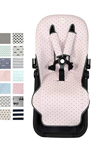Fundas BCN  - F125 - Colchoneta para silla de paseo Bugaboo Cameleon  3 – Diversos estampados (Little Fun Peach)