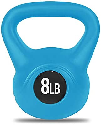 Nicole Miller Kettlebell Weight with Durable Coated Material - 8 Pounds, Light Blue by Nicole Miller New York