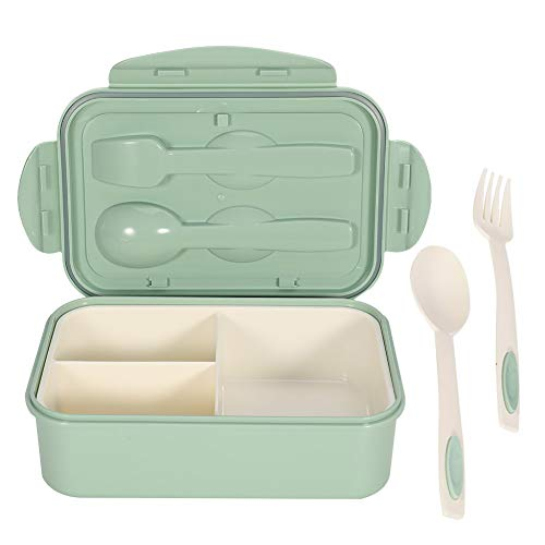 You&Lemon 1000ml Bento Box mit Besteck Brotdose Auslaufsicher Brotzeitbox Picknick Ausflug für Kinder Und Erwachsene