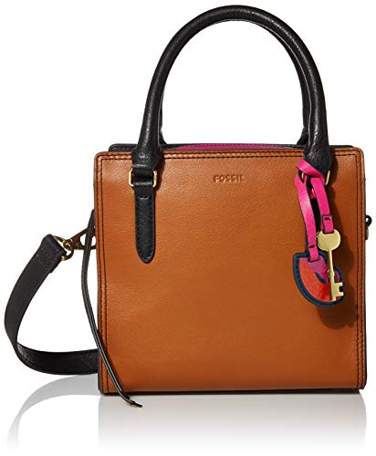 Fossil Women's Hope Leather Crossbody Handbag, Saddle Stripe