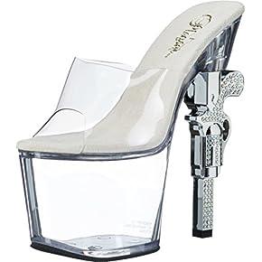 Pleaser Women's Revolver-712 Sandal