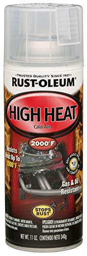 Rust-Oleum Automotive 260771 11-Ounce 2000 Degrees High Heat Spray, Gloss Clear