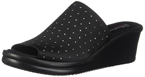 Skechers Cali Women's Rumblers-Silky Smooth Slide Sandal, black 17, 8.5 M US