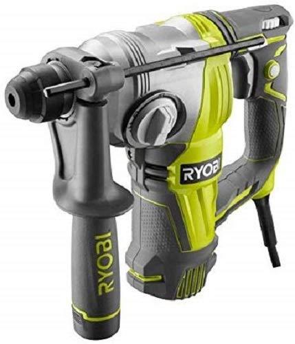 Ryobi 5133002517 Bohr- & Meißelhammer 800 W RSDS800-KA5 mit Zubehör im Koffer, Schwarz, Grün