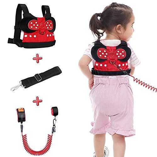 Lehoo Castle Guinzaglio per bambini per passeggiate, Imbracature di sicurezza per bambini Guinzagli per bambini, Imbracatura di sicurezza per bambini, Cinture di sicurezza anti-polso (Rosso)
