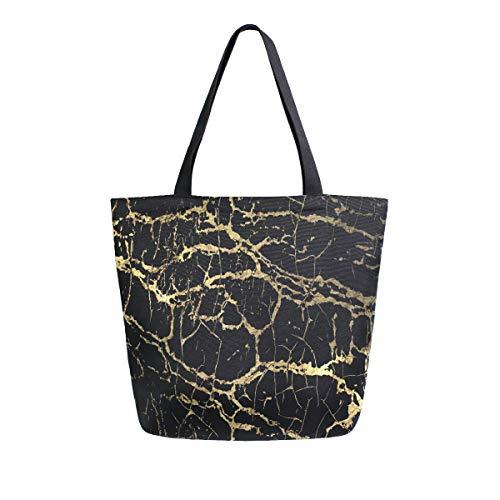 funnyy Einkaufstasche für Damen, mit Glitzer, Marmor, Segeltuch, lässig, Schultertasche, Strandtasche, Handtasche, groß, wiederverwendbar, Baumwolle, Mehrzweck-Tasche für Lehrer, Fitnessstudio, Arbeit