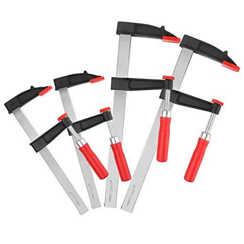 MAXPOWER 4 Stück schraubzwingen set 200 mm x 60 mm + 300mm x 80mm F Klemmen für die Holzbearbeitung, nicht lose schraubzwinge set