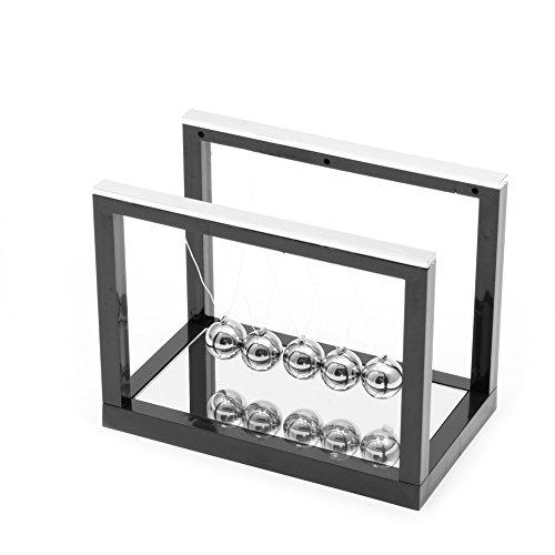 jackyee T001 Kleiner Spiegel Newton Billar – Schwarz Newton Wiege, Stahl, Waage Ball Spaß, Dekoration, Wissenschaft, Spielzeug, Geschenk S