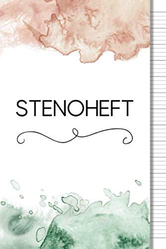Stenoheft | Stenografie Schreibheft: Stenographie lernen Übungsheft 6x9 zoll ca DIN A5 | 64 Seiten: 30 S. Schreibraster mit Orientierungslinien und 30 ... lernen für Anfänger und Fortgeschrittene