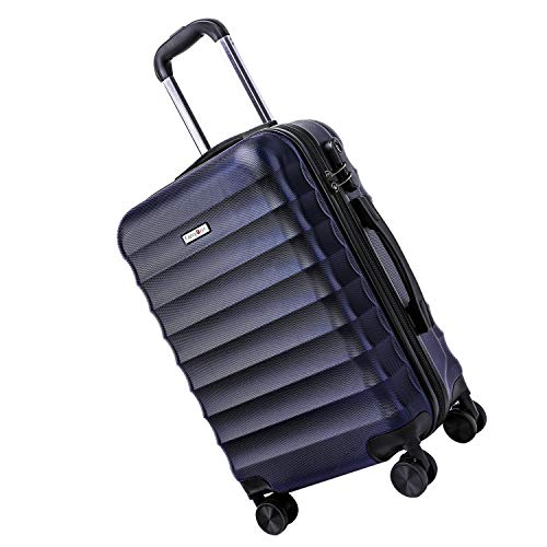 CarryOne Bagaglio a Mano Trolley Valigie Valigia Rigida Leggera, 55cm, 34liters, per viaggio TD2(Blu)