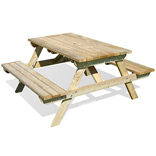 WOODEN GARDEN PICNIC TABLE BENCH - PUB STYLE OUTDOOR FURNITURE 5FT BY WESTMOUNT LIVING
