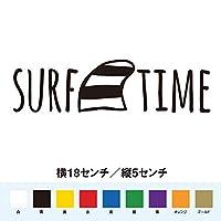サーフタイム SURF TIME ステッカー (白, 18)