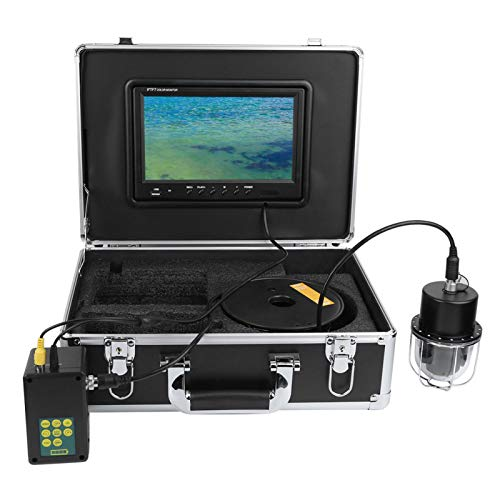 Pwshymi IP68 Impermeable panorámica 20 Luces Video grabadora 360 ° cámara para exploración de Peces(European regulations)