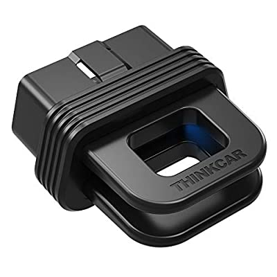 thinkcar 1 Bluetooth OBD2 Scanner, 10 OBDII Test Modes Full-Systems Diagnoses Real-time Remote Diagnostic Black Box OBD Data Recording Portable Scan Tool for iOS & Android Devices
