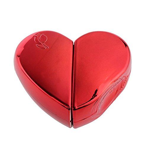 TOOGOO(R) 25ml Bouteilles Vaporisateur De Parfum Forme en Coeur Atomiseur Coffret Rechargeable Cadeau - red, Taille unique