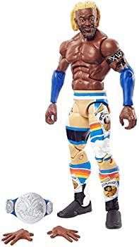 WWE Top Picks Elite Kofi Kingston Action Figure with Universal Championship6 in Posable Collectible Gift for WWE Fans Ages 8 Years Old and Up