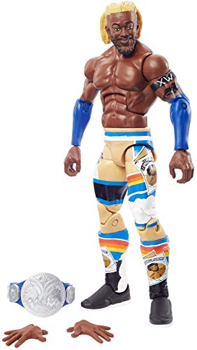 WWE Kofi Kingston Top Picks Elite Collection Action Figure with Smackdown Tag Team Championship, 6-in / 15.24-cm Posable Collectible Gift Fans Ages 8 Years Old & Up (GVB99)