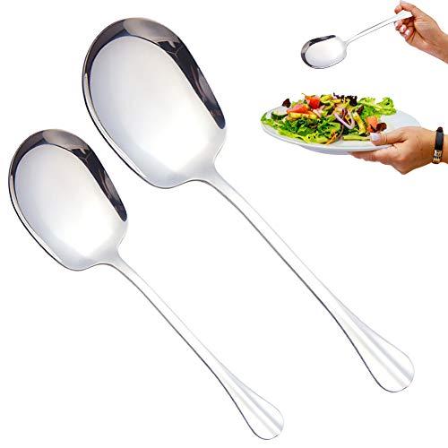 HUYIWEI Dos cucharas de servir de acero inoxidable, cucharas