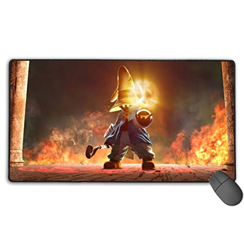 Final Fantasy - Vivi Ornitier Mouse Pad with Stitched Edges, Big High-Performance Mouse Mats, Professional Laptop Pc Mouse Mats Best Gaming Keyboard Pad for Kids Work