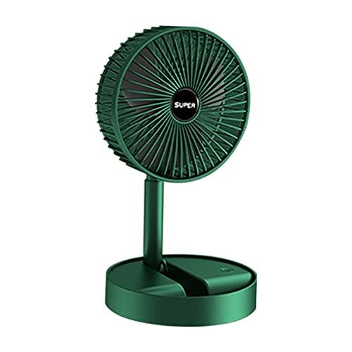 MagiDeal Ventilador de Escritorio USB, pequeño Ventilador portátil silencioso para Mesa de Oficina de Escritorio, Ajuste de 270 ° para una Mejor - Verde