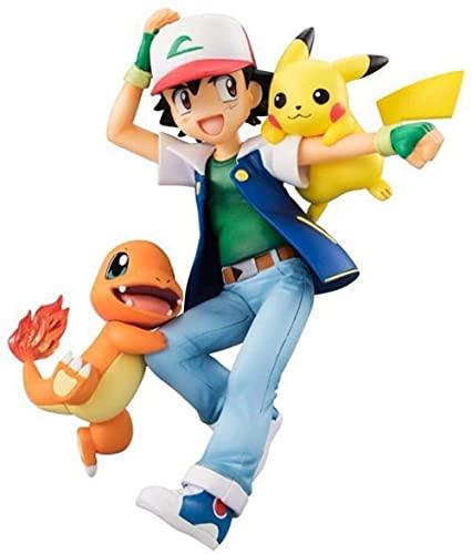 HYHSM Pokemon Pokemon Pokemon Xiaozhi pequeño dragón de Fuego PVC Figura móvil Figura de acción de Anime 15cm Caja de Color de decoración de Escritorio