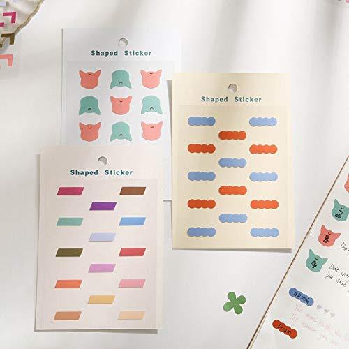 BLOUR Point Story Series Ins Kleine frische Hand Konto Grundmaterial DIY dekorative Aufkleber 6 Modelle Papier
