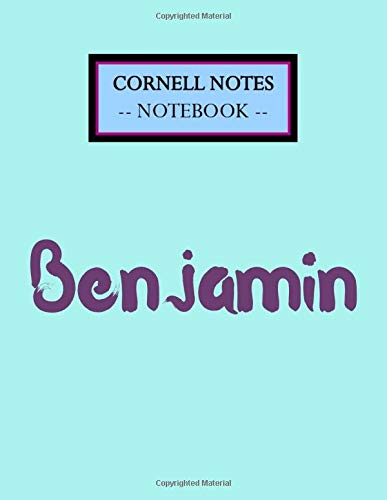 Benjamin Cornell Notes Notebook: Cute Large Cornell Note Paper Notebook, School Notebooks, Cute Coll