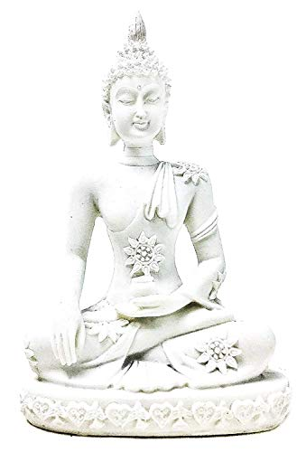 Bellaa 20508 Buddha Statue Earth Touching Mudra Sakyamuni 4 inch