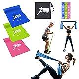 GermanyActive - Bandas de resistencia para entrenamiento de fuerza, gimnasia, musculación para embarazadas, crossfit, fitness, yoga, para mujeres y hombres