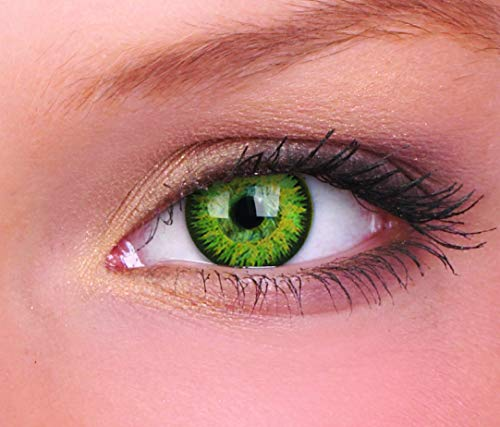 Farbige Kontaktlinse Glamour grün 3 Monate Einweg 14 mm stärke 0.00 von ColourVUE entfernt
