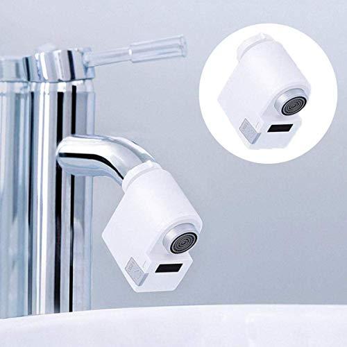 Umiwe Automatischer Berührungslos Wasserhahn Adapter, Infrarot Induktion Küche Waschbecken Im Bad Wasser Sparen Bewegungssensor Adapter Wasserüberlaufschutz, Einfache Installation