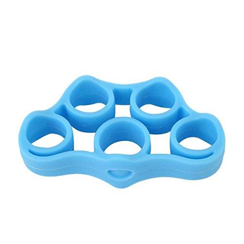 ajzdnzvr prendedor de dedo, faixas de resistência para treinadores de força exercitador de mão (azul claro)