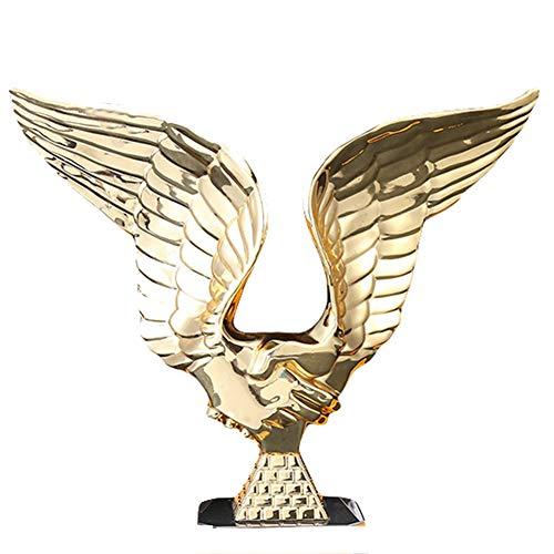Trophäe aus Kristallharz, Engelsflügel, preisgekrönte Kooperation-Trophäe, kostenlose Beschriftung, Größe 22 x 6 x 25 cm, Gold