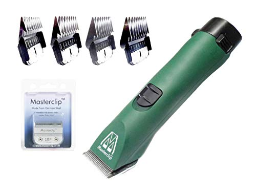Masterclip Professional Cordless Dog Clipper with 4 pack of comb...
