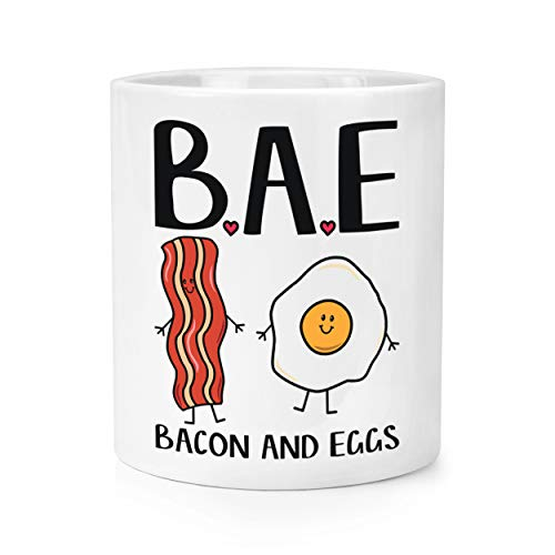 Bae Bacon et Oeufs Maquillage Brosse Crayon Pot