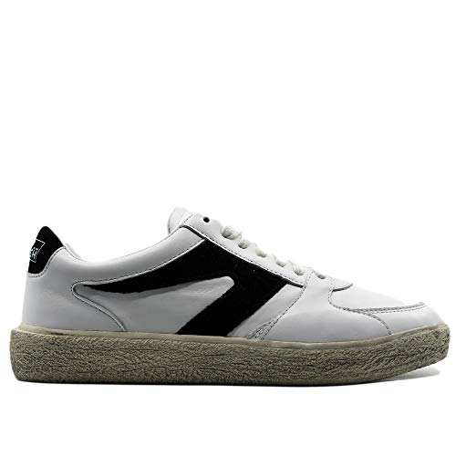 Walsh Sneakers White with Logo Black, Weiß - weiß - Größe: 45 EU