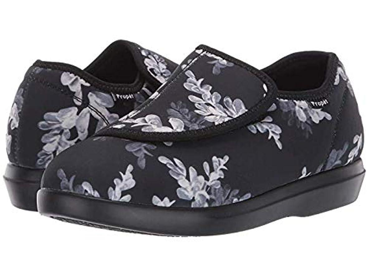 常にフリース一般化する[プロペット] レディースローファー?靴 Cush 'N Foot Black Floral (25cm) W (D) [並行輸入品]