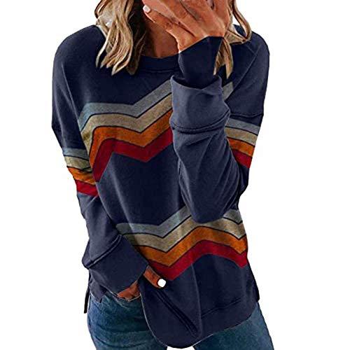 Pottseth Womens Sweatshirts and Hoodies Women's Tie Dye Sweatshirts Oversized Long Sleeve Crewneck Loose Fit Casual Pullover Shirts Tops