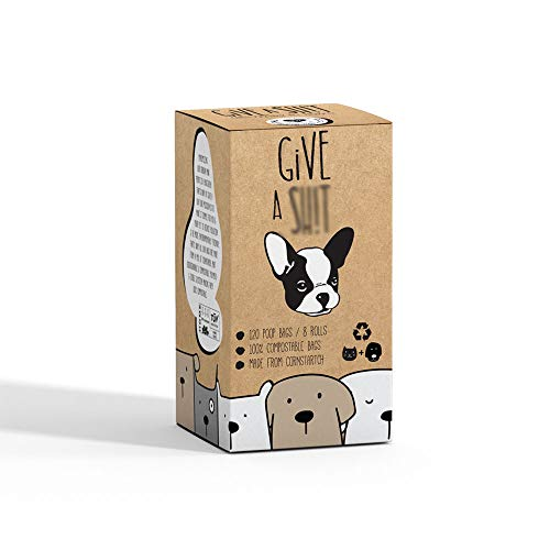 Compostable Dog Poop Bags | 10% to Charity | Biodegradable Vegetable Based | Eco and Earth Friendly Disposable Doggie Waste Baggies | Leakproof and Zero Odor Green Pet Supplies | Easy Compost Disposal