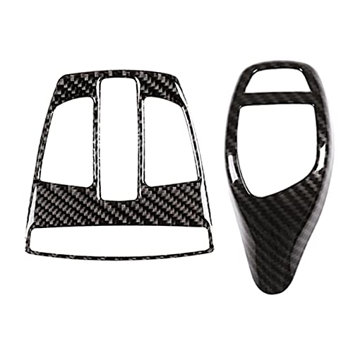 QINQIN 2 Pezzi Accessori per Auto: 1 pz Auto Gear Shift Knob Cover & 1 PCS Car Front Light Light Light Panel Cover Trim Struttura