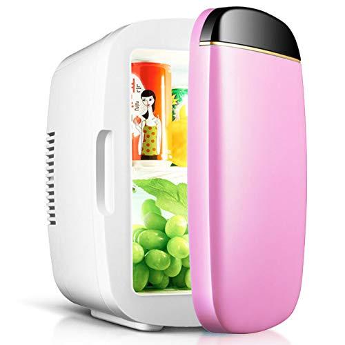 Ling Mini-koelkast, draagbaar, stil, warm, koud en compact, laag energieverbruik, mini-koelkast, 12 V, 220 V, voor auto, camping, kantoor, reizen PINK