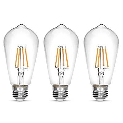 LED Edison Bulb,Antique 40W Vintage Edison Bulb,E26 Light Bulb Non Dimmable Led Bulb 450 Lumens 2700K,Pack of 3