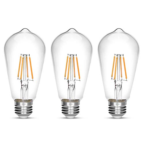 LED Edison Bulb,Antique 40W Vintage Edison Bulb,E26 Light Bulb Non Dimmable Led Bulb 450 Lumens 2700K,Pack of 3