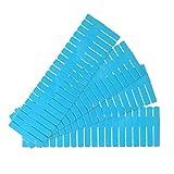 ENJY Separador Cajones 4 Piezas de cajón de plástico Grid Divider Partition Organizer Ropa Interior Calcetines Mabador de Maquillaje Partition Tool (Color : Blue)