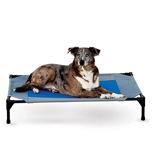 K&H Pet Products KH Mfg Coolin Gray/Blue Pet Cot