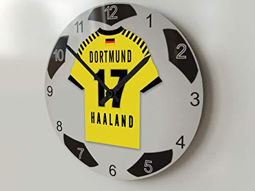FanPlastic Deutschland Bundegliga, große Fußball-Uhr – alle Teams, Fußball-Uhren-Stand-Design. !, Acryl, Borussia Dortmund