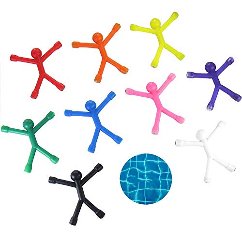 8Pcs Bendable Magnetic Q-Man Toy Children Kids Toy Cute Flexible Rubber Figures Sticker for Holding Papers Photos