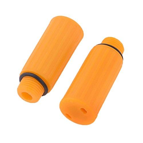 Naranja de plástico de 15 mm Rosca macho Dia del compresor de aire de aceite Tapones de 2 PC