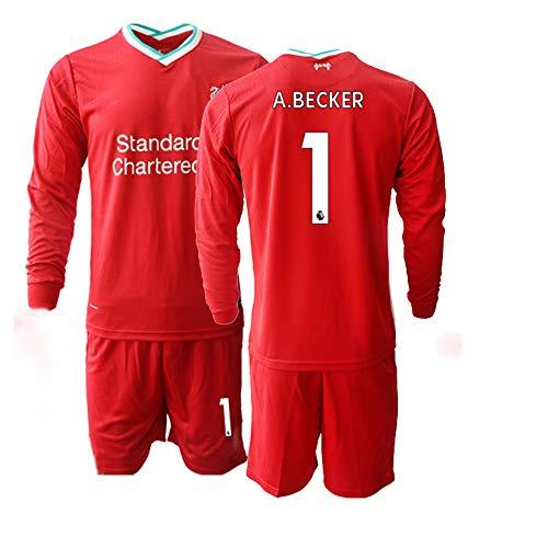 JEEG 20/21 Kinder A.Becker 1# Fußball Trikot Jugend Langarm Trainings Anzug (Kinder Größe 4-13 Jahre) (26)