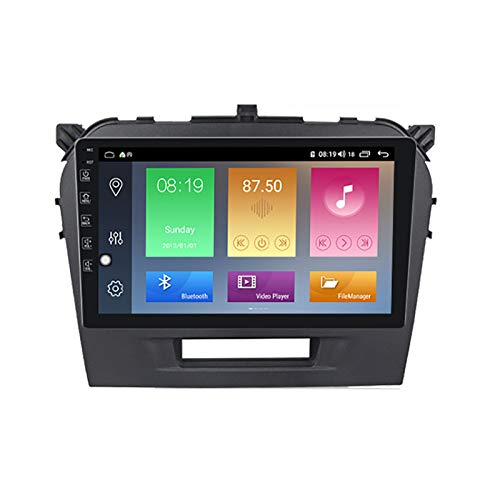YLCCC Coche Estéreo Vehículo GPS Adecuado para Suzuki Vitara 2017 Coche Estéreo Sat Capacitivo Touch HD Carplay Radio Multimedia Multimedia Radio Incorporado Tracker,4Core WiFi:2+32G